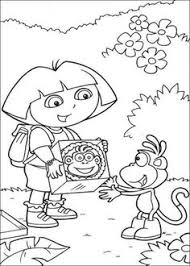 dora explorer coloring misc birthdays