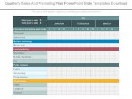 quarterly sales and marketing plan powerpoint slide templates