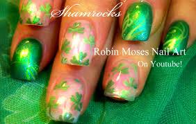 easy st patricks day shamrock nails art design youtube