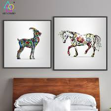 sheep home decor creative canvas painting animals horse sheep wall art picture home