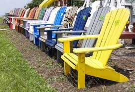 lineup colorful outside lawn wooden lawn chairs for sale on