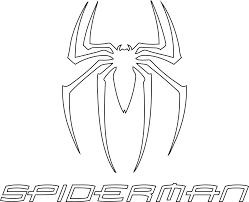 spiderman logo outline
