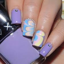 nail art tutorial rainbow water marble nails nail it