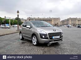 mpv car peugeot 3008 french mpv car in paris stock photo royalty free