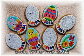 Easter Egg Cookie Decorating Kit by The Gingerbread Artist Coloring Cookies For Easter My Version Of