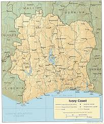 africa map ivory coast cote d ivoire ivory coast maps perry castañeda map collection