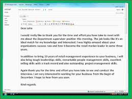 6 thank you note after interview sample ganttchart template