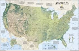 Alaska Usa Map by Physical Us Map Usa And Us States Wall Maps Northamerica Wall
