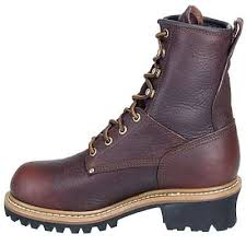 womens work boots carolina ca421 womens brown leather logger work boot