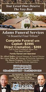 funeral homes prices funeral home ad update on scad portfolios