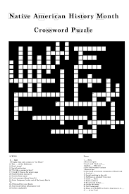 crossword native american history month u2013 uhcl the signal
