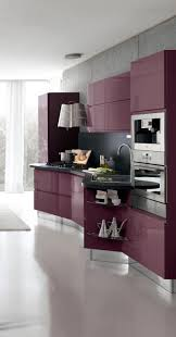 small modern interior kitchen design curved black granite