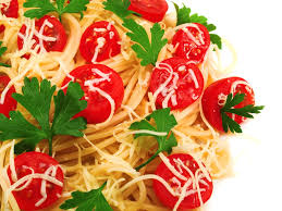 cuisine cherry spaghetti with burst cherry tomatoes recipe epicurious com