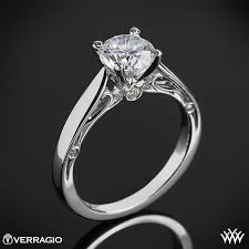 verragio cathedral solitaire engagement ring 1835 - Cathedral Solitaire Engagement Ring