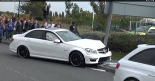 mercedes in manchester cocky mercedes c63 amg driver crashes in manchester autoevolution