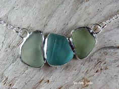 How To Make Jewelry From Sea Glass - sea glass u0026 leather wrap bracelet or necklace by therubbishrevival