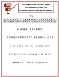 cryptogram puzzle dewey decimal classification system library