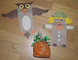 autumn paper bag crafts from cheap crafty mama kid blogger