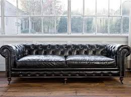 vintage leather chesterfield sofa for sale rochester 3 seat aged leather chesterfield sofa vintage black