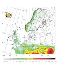 Seismic Risk Map Of The United States by Seismic Hazard Assessment For Central North And Northwest Europe