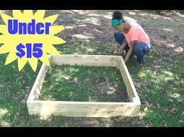 The Proper Way To Make A Bed How To Build A Raised Garden Bed For Under 15 Youtube