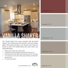 Rta Shaker Kitchen Cabinets Color Palette To Go With Our Vanilla Shaker Kitchen Cabinet Line