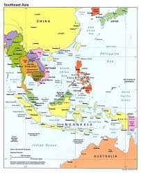 Maps Asia by Detailed Political Map Of Southeast Asia With Capitals And Major