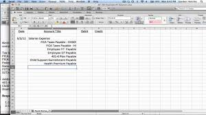 payroll journal entries demonstration youtube
