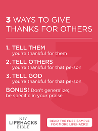 3 ways to give thanks for others give thanks