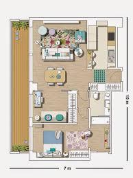 layout apartment pequeno apartamento decorado 70 m tons de azul estampas e