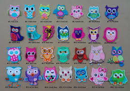 lovely owl giggle and hoot iron on patches