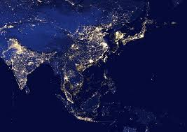 World At Night Map by Night Satellite Photos Of Earth