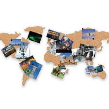 World Map Cork Board by Cork Board World Map Unusual Gifts By Getting Personal