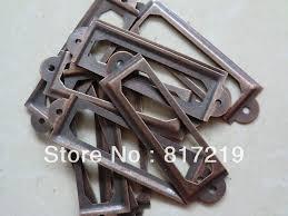 file cabinet label holders vintage metal file cabinet label holder antique vintage iron label