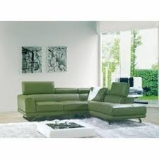 Green Leather Sectional Sofa Green Sectional Sofa With Chaise Foter