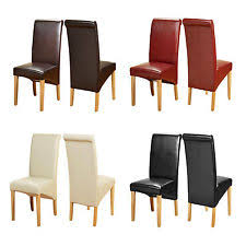 Scroll Back Leather Dining Chairs Brown Leather Dining Chairs Ebay
