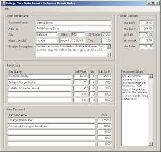 microsoft visual basic example application college park auto repair