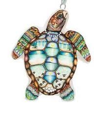 sea turtle ornament painted hawaiian ornament