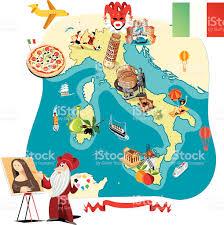 Italian Map Cartoon Map Of Italy Stock Vector Art 166079616 Istock