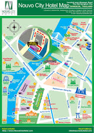 Bangkok Map Location Nouvo City Hotel Modern Boutique Luxury Hotel In The