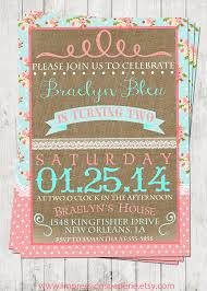 vintage shabby a customizable birthday invitation by best