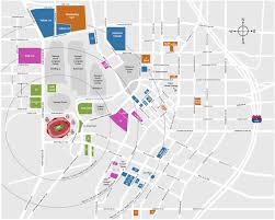 University Of Tennessee Parking Map by Stadium Parking Lots Mercedes Benz Stadium