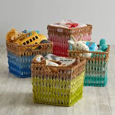 ombre rattan cube basket the land of nod
