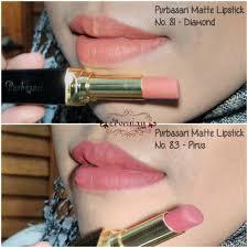 Lipstik Purbasari Nomor 90 purbasari matte lipstick no 81 dan 83 pirus