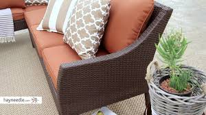 All Weather Wicker Patio Dining Sets by Belham Living Devon All Weather Wicker Sofa Sectional Patio Dining