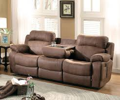 Reclining Sofas And Loveseats Reclining Sofa With Cup Holders Loveseat Console Foter
