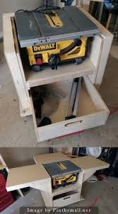 how to build a table saw workstation homemade workstation i built for my new table saw your