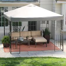 L Shaped Patio Furniture Cover - great living outdoor ideas with canopy gazebo using square hard