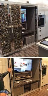 Elmwood Kitchen Cabinets New At Kbis 2014 Elmwood Cabinets With Bi Fold Pocket Doors That