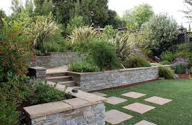 hillside landscaping with steps and boulders outdoor hillside